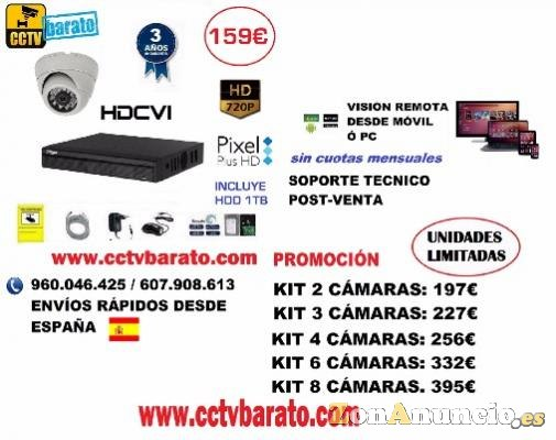 OFERTA KIT VIDEOVIGILANCIA INTERIOR HD