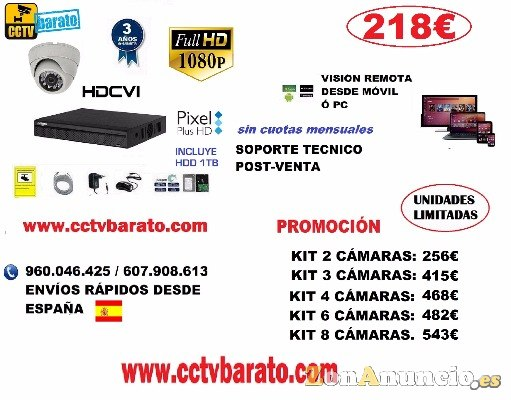 OFERTA KIT VIDEOVIGILANCIA 1080P FULL HD.