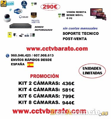 Oferta kit videovigilancia IP WIFI HD