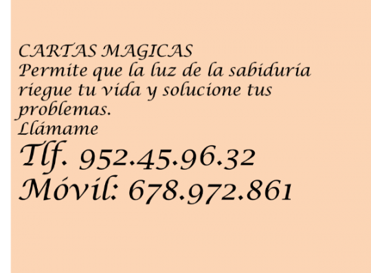CARTAS MAGICAS LOURDES